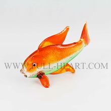 2014 murano glass animal fish figurines home dacoration Vintage Spun Glass Tropical Fish Miniature Animal Figurine