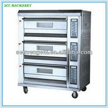 The Commercial Automatic Pizza Oven- 3 Decks, Front S/S, 350 'C, Pan 40*60 cm, CE,SCC-EP25A