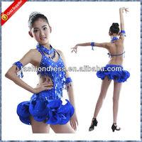 Girls competition latin dress, dance wear, performance wear C-0032
