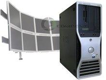 Precision 490 Quad Core 8 Monitor Foreign Currency Arbitrage Globex eTrade Trading Brokerage Computer Workstation Desktop