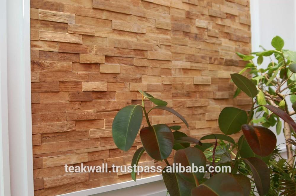 Teck panneau mural autres meubles en bois id du produit for Panneau mural en bois