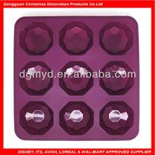 diamond shape non-stick silicone ice cube tray