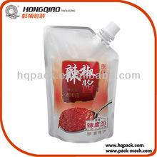 Plastic Spout Pouch Bag for Chilli Sauce