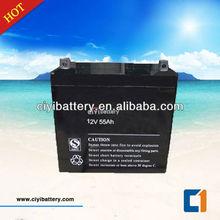 Solar System Battery Deep Cycle Battery 12v 55ah