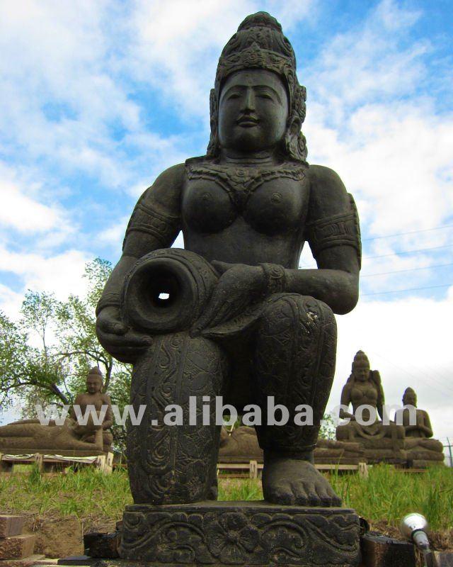 4 piedi grande pietra shiva giardino zen statua buddha arte fontana #507 - mi...