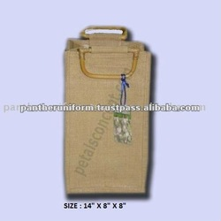 Natural jute wine packing bag