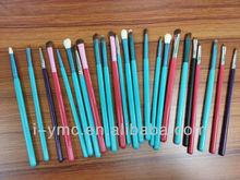 custom color make up brush lip/blending/eye brushes