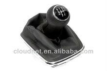 Chrome Gear Shift Knob & Boot (Rubber Grip 5 Speed) For VW Volkswagen Golf Jetta Bora MK4
