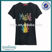 Manufactory fashion clothes women custom brand organic t-shirt manufacturer