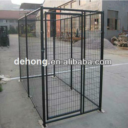 powder coated or galvanized mesh dog kennel/ pet cage factory