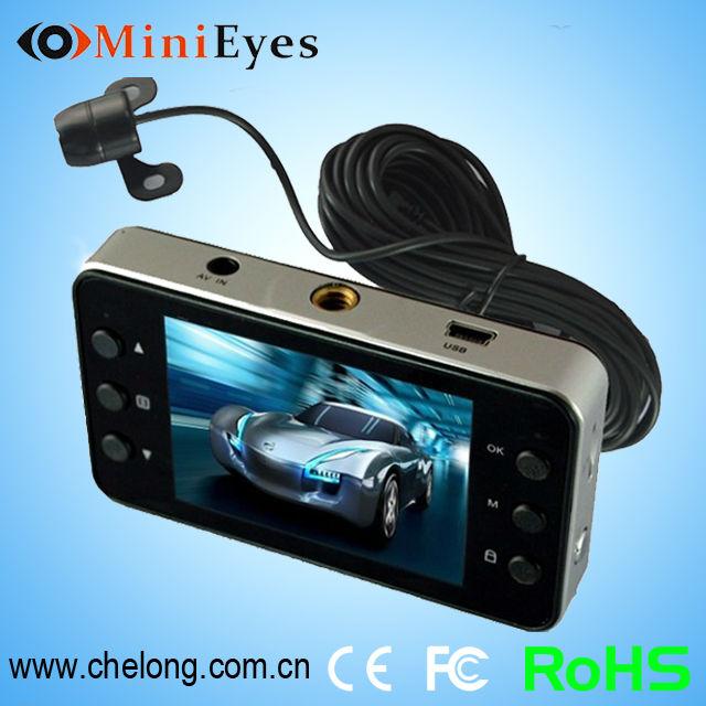 2014 Hot sale 2.7 Inch free sample night vision h198 hd 1080p dual camera hd mini car camera