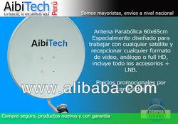 Antena Parabolica 60 X 65 CM con LNB HD