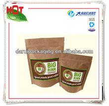 Stand up coffee bag,paper coffee tea bag,kraft paper bag with ziplock