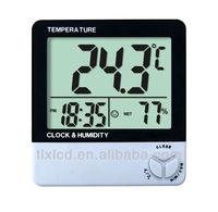 Digital room clock hygrometer air temperature measurement instrument
