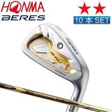 Honma golf Beres satin gold painting IS-02 Iron 10p set(4-11,AW,SW) ARMRQ6 49 Carbon shaft 2S grade