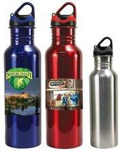 24 oz stainless steel bottle. Full colour digital logo. BPA free