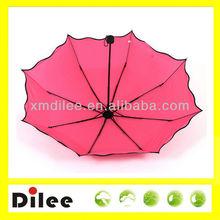 ladies fashional 3 fold manual open and close umbrella