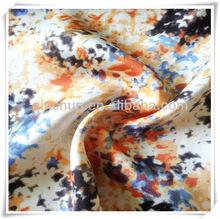 97% polyester 3% spandex wholesale chiffon print fabric stretch satin chiffon print fabric for fashionable cloth, garments