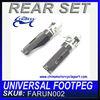 For UNIVERSAL FOOTPEG FOLDABLE STYLE Billet Aluminum Rear Set FARUN002