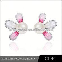 Wholesale china crystal hearts shaped earrings