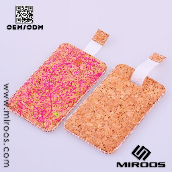 custom cortiça impressão saco móvel para o iphone 5s