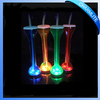 China Led Yard Cup Flashing Straw Bottle Blinking Glass