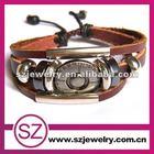 PUA0072 2013 fashion high quality cheap leather bracelet pulsera de china
