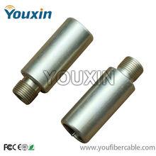 CATV aluminium rg6 coaxial cable F type locking terminais e conectores