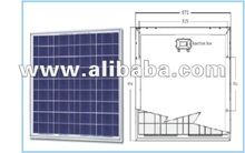 50Wp PV module solar panel poly and mono with TUV CE MCS CEC lowest price