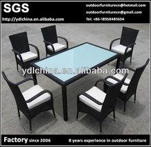 factory hot sale wicker rattan outdoor dining set