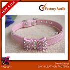 rhinestone puppy bow gift cute collar Bling pink bowknot dog cat pet
