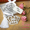 Crown design metal bookmark favors On Sale
