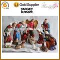 2014 novo estilo de venda quente do natal natividade conjunto de resina figurinhas grande 11/s