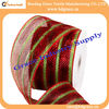 full metallic two color 4 inch 25 yards floral wrap ribbon net
