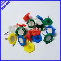 Quality different shapes 6 corners decorative colored plastic thumb tacks