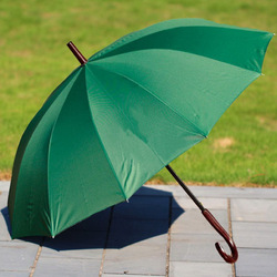 12 ribs green windproof advertising golf umbrella with logo , corporate gifts for promotion