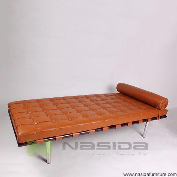 wohnzimmer liege leder:sf204 replik anilin leder braun barcelona liege-Wohnzimmer Sofa
