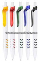 Smooth writing white ballpoint pen,logo pens