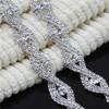 New Design Luxury Bridal Clear Crystal Rhinestone Trim for Garment, Bags, Dresses Decoration