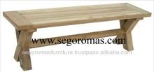High Quality Folding Teak Furniture Wooden Cross Bench