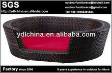 fashionable design pet furniture rattan dog bed
