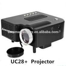 Hottest!!! Cheap Pico Projector UC28 Mini Professional LED Mini Video Projector