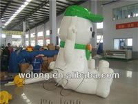 custom inflatable moving cartoon / inflatable mascot