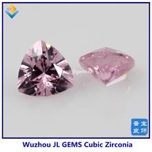 Direct Manufacturer pink double checker cut trillion cubic zircon