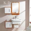 Carvalho muliti- madeira maciça pendurado banheiro vaidades, espelho antigo mobiliário