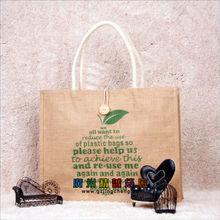 custom logo stock lot promotional linen tote bag