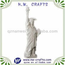 resina blanca estatua de la libertad de figuras