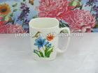 new bone china ceramic/fine porcelain coffee mug with flower decal
