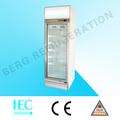 Ce cozinha equiment transparente porta de geladeira/display freezer/frigorífico congelador