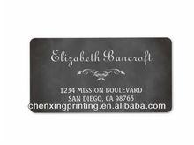 Vintage romantic chalkboard custom return address custom address label